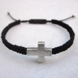 Sideways cross macrame friendship bracelet MADE TO ORDER in your desired color
